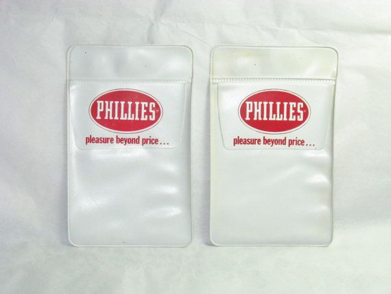 Set of two Phillies cigars pocket protectors vintage brings back memories of my fathers pocket protectors. He was a cigar salesman.