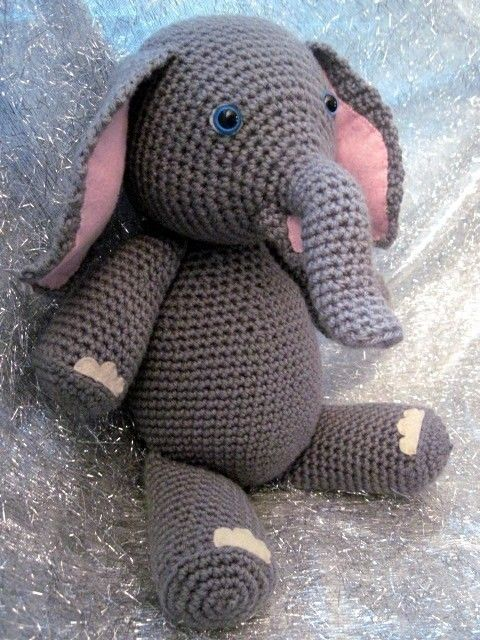 maybe with yarn eyes instead of those ones that a baby may choke on Elly the Elephant Crochet Amigurumi Pattern by amyandell on Etsy