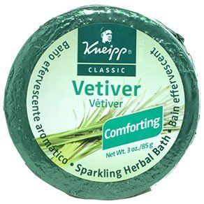 Kneipp Kneipp Sparkling Bath Tablets - Vetiver by Kneipp. $4.50. Dry, irritated, red, and itchy skin will feel calmed and relieved, while skin will look softer and smoother every time you use it. Kneipp Sparkling Bath Tablets Vetiver change bath water from blah to blissful by activating on contact with hot water and releasing richly fragrant essential plant oils. Bathwater can do more than comfort; it can heal your skin. Bathwater can do more than comfort; it can h...