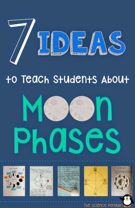 7 Ideas to Teach Students about Moon Phases  The Science Penguin