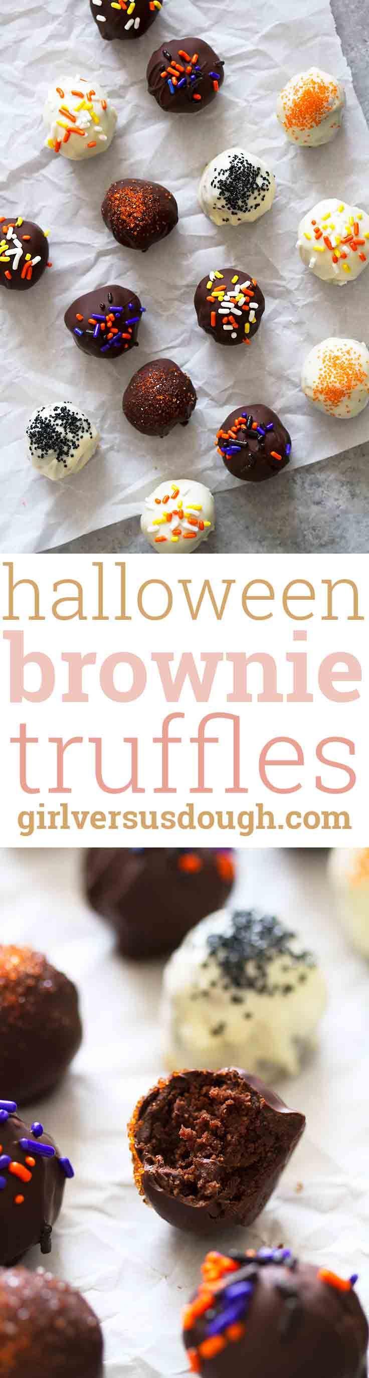 halloween brownie truffles - Halloween Brownie Recipe