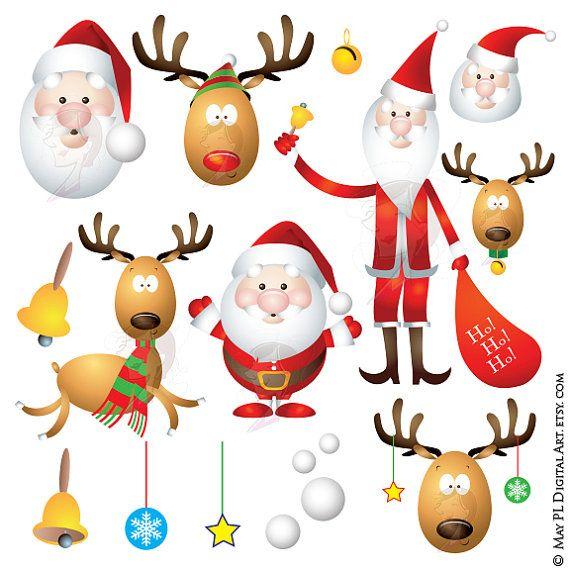 17 Best ideas about Santa Claus's Reindeer on Pinterest | Vintage ...