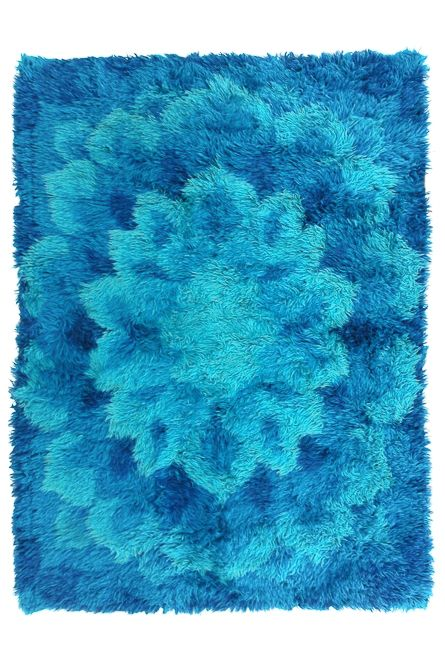 Pop Art/Space Age Rya Carpet via SCANDINAVIAN MODERNISTS. Click on the image to see more!
