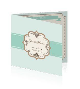 Unieke huwelijkskaarten save the date maken. Een prachtige kaart voor de aankondiging voor uw huwelijk.