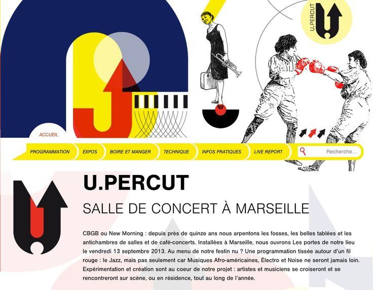 www.u-percut.fr U.PERCUT, salle de concerts / bar Développement : Olivier Sazos Design : alouette sans tête