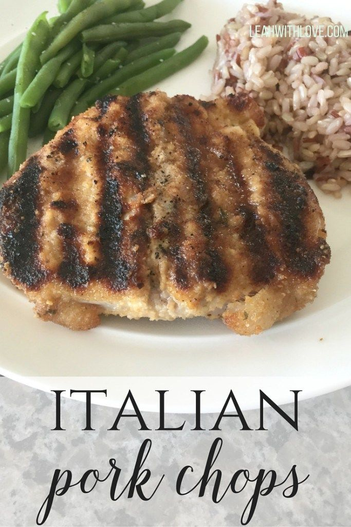 Italian Pork Chops- easy to make, done in about 40 minutes and full of flavor. Add this to your dinner menu tonight!