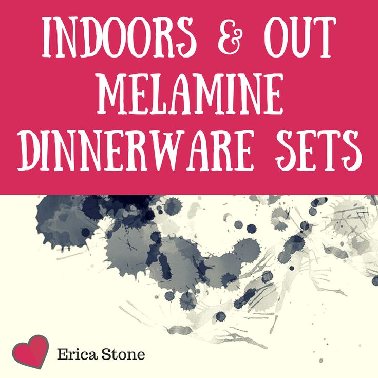 Sturdy and pretty melamine dinnerware sets for indoors or outside patio use #dinnerware #melamine #plates #kitchen