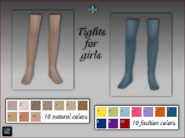 Arte Della Vita: Tights for girls in nature and fashion colors • Sims 4 Downloads