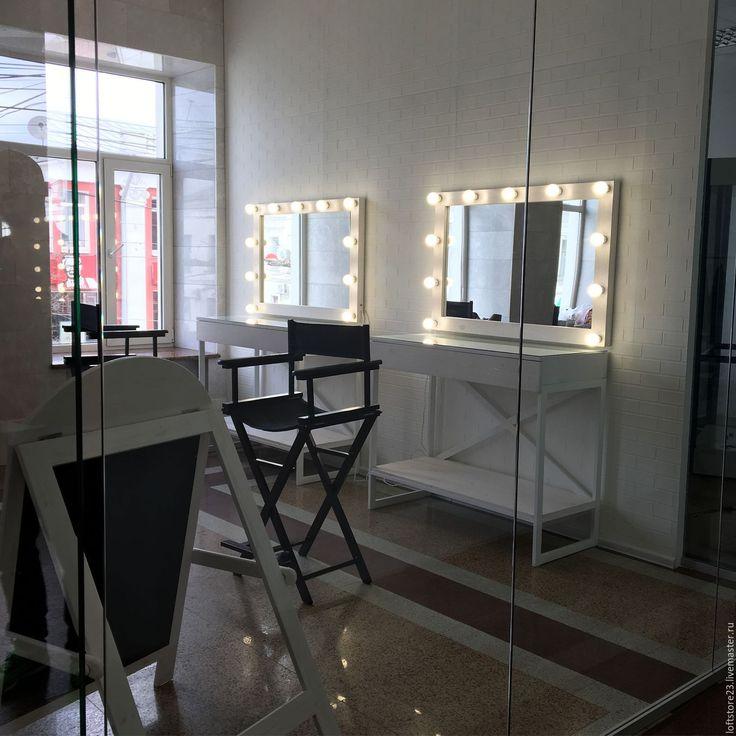 Купить Зеркало визажиста POLICE. - белый, набор стилиста, набор визажиста, мебель на металлокаркасе