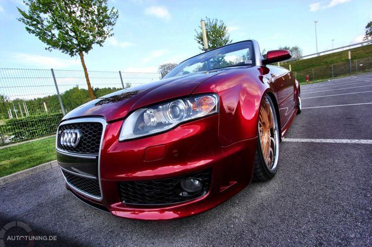 Audi A4 Cabrio – Das Frei-Luft-Gefährt in Candy Rot
