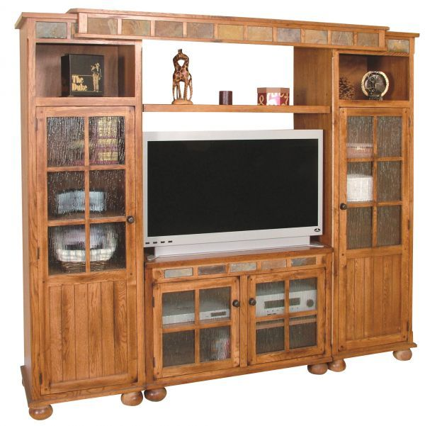 Sedona Rustic Oak Media Center, $1399.99. Available At Just Cabinets  Furniture U0026 More And