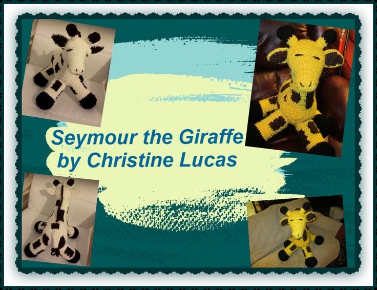 Seymour the Giraffe by Christine Lucas - available in Huggable Crochet