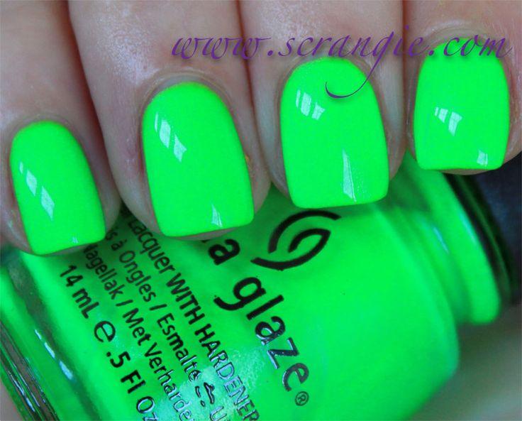 neon acrylic nail - Google Search
