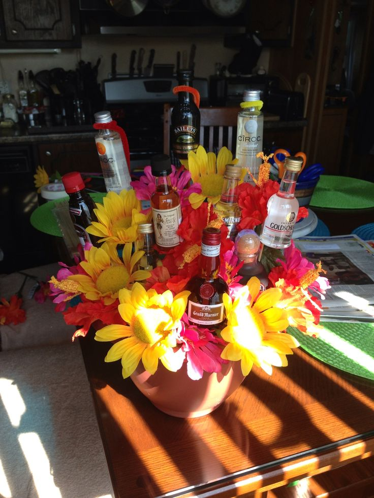 Alcohol Nip Flower Bouquet The Longest Lasting Bouquet Until You Drink It Quot Drinkable