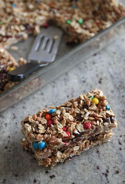 No Bake Trail Mix Granola Bars via @Marianne Glass Burchard Design