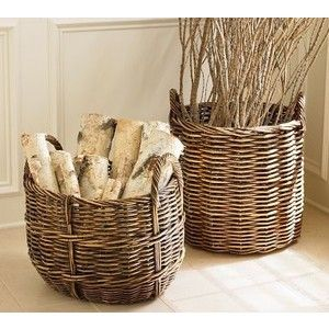 Beside Fireplace For Looks Pottery Barn Baskets Basket