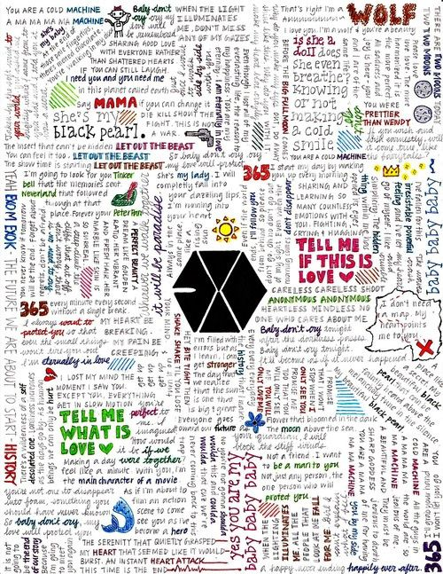 Exo has such beautiful lyrics on songs~!! Each song may even resemble us fangulls to them~!! May they write beautiful and meaningful songs for the rest of the years~ #EXOFighting