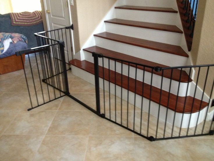 Baby Gate For wide Opening At bottom of Stairs