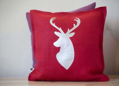 Deer head cushion cover by:-pillowlink