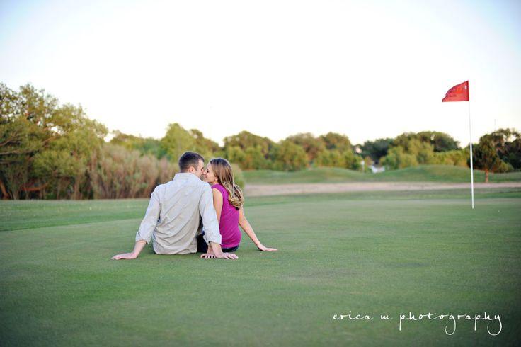 golf engagement photos @Torey Flanary