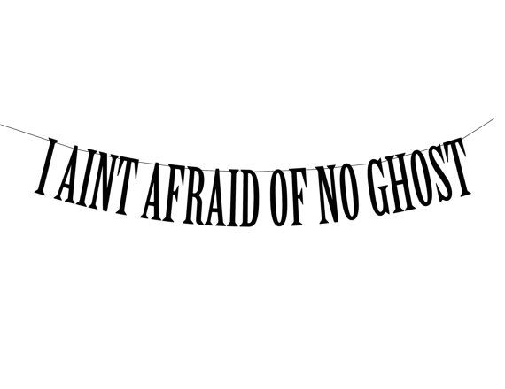 Halloween Party Banner 90s Ghostbuster Quote by PerfectLemonade