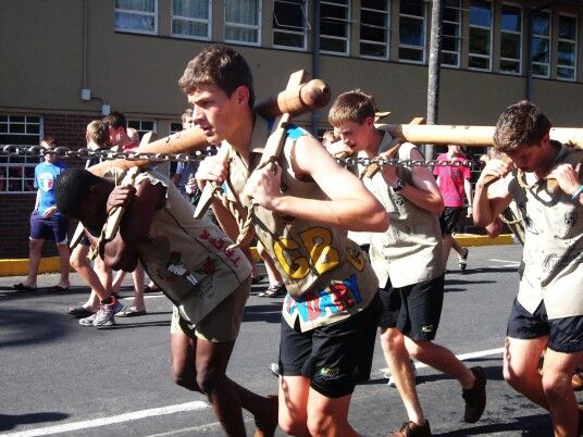 School tradition, NHS Nelspruit Mpumalanga South Africa.