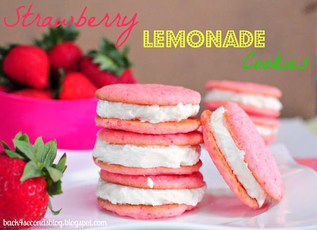 Strawberry Lemonade Cookies - Perfect summertime cookie and SUPER EASY to make!! #lemonade #pink #strawberry