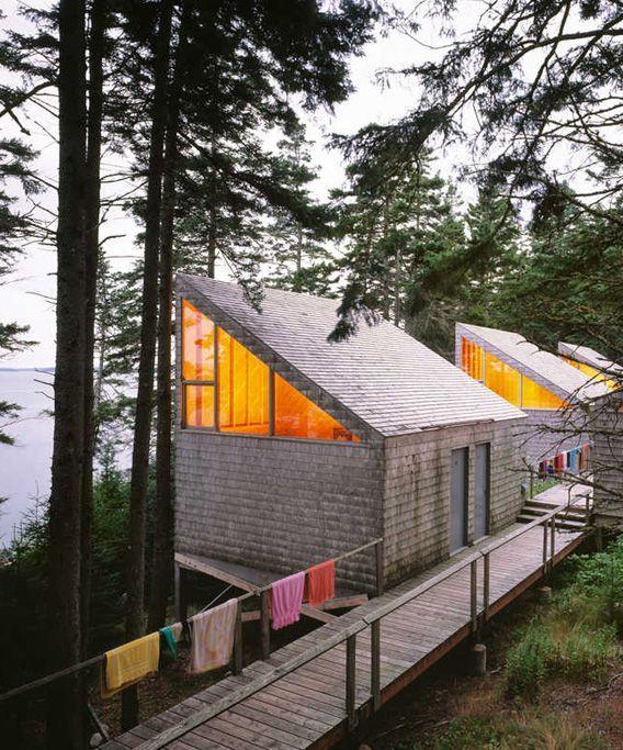 Modern Lake House Architecture: Live Here • Haystack Cabin • Edward Larrabee Barnes