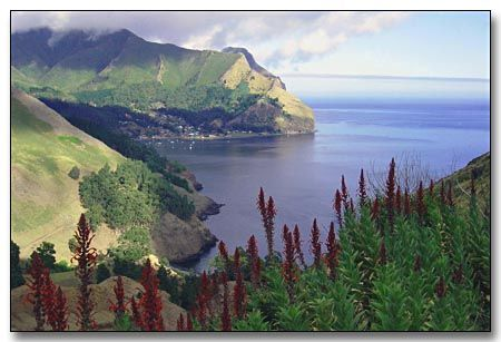 Robinson Crusoe Island, yes it really exists although barely anyone lives there...