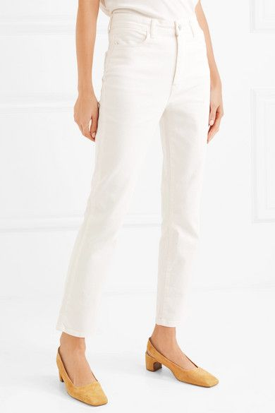 2b58707a0fcd CASASOLA - Cropped high-rise straight-leg jeans | Products | Jeans ...