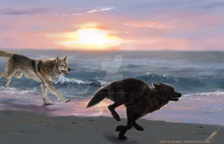 Yellow Anime Wolf 2438 best furries imag...