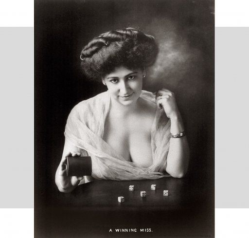 """From a series of """"soiled dove"""" portraits (prostitutes) at the turn of the century."""