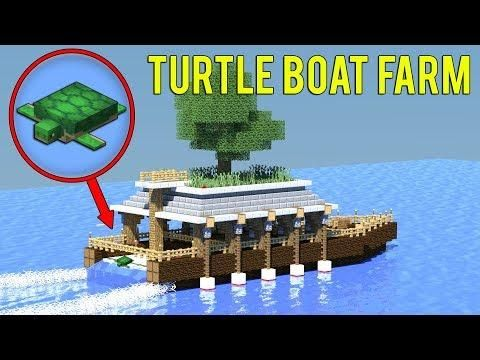 1 13 Minecraft How To Build A Turtle Farm Survival Boat House