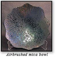 Make your own Mica Paint and Spray Medium for fused glass.  Can probably use in other crafs and art projects too. Its so beautiful on the mica bowl in the photograph.