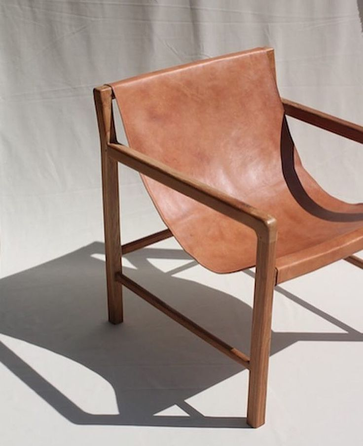 Leather Sling Chair Scandi Design Furniture