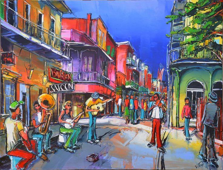 Eric Le Pape, Jazz Party New Orleans, 50F 116x89 cm