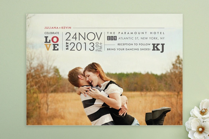 graphic invitation. Maybe try just font too - big, on a post card size (diy & cheap)...love this idea