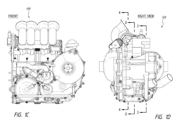 Dan Gurney's Moment-Cancelling Four-Stroke Engine viewed