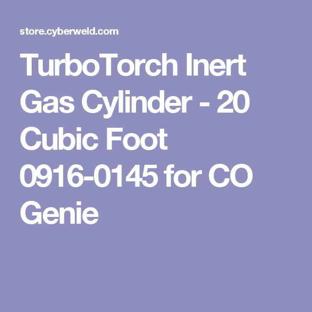 TurboTorch Inert Gas Cylinder - 20 Cubic Foot 0916-0145 for CO Genie