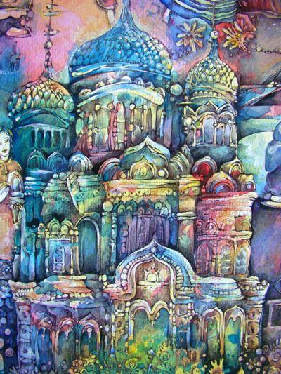 Koreshkova Pietsch, Natalia: Russian orthodox church by Natalia Koreshkova Pietsch.