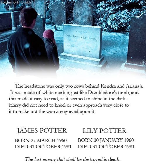 R.I.P. James and Lily Potter - October 31st