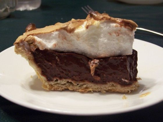 Old Fashioned Homemade Chocolate Pie- Have always wanted to mimic my neighborhood diner's chocolate pie. So simple and straight forward, but hits the spot every time. This recipe seems fairly easy! I would top it with whipped cream:)