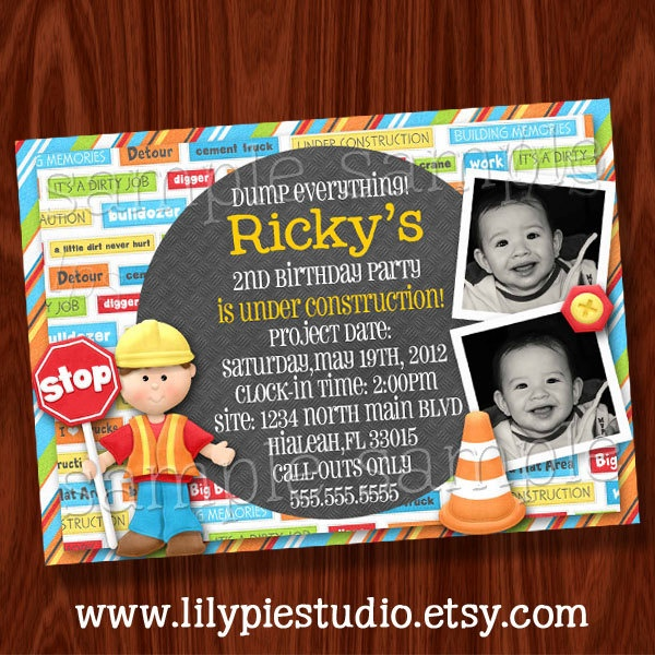 36 best Bob the builder birthday images – Bob the Builder Party Invitations