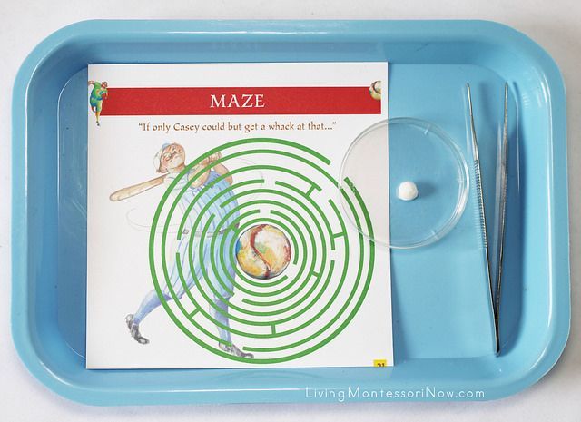 Casey at the Bat Maze - fun #baseball activity for kids!
