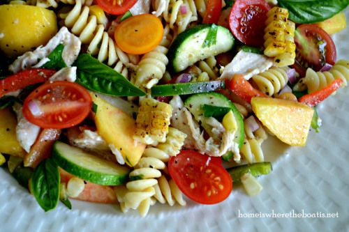 Farmers' Market Pasta Salad - made 8/13/13, SO fab! I'd call it &quot...