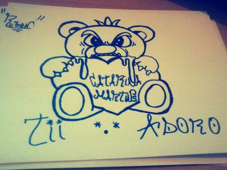 Pedido de uma rapariga, muito simpática, fiz.lhe um graffiti, e ela gostou muito. #Rubenc