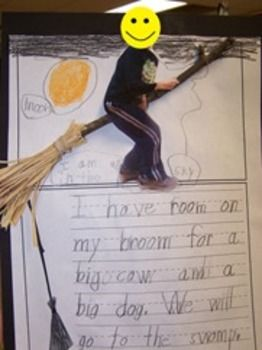 RHYMING AND WRITING STORY COMPANION TO ROOM ON THE BROOM - TeachersPayTeachers.com