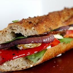 Roasted Vegetables Baguette Sandwich recipe