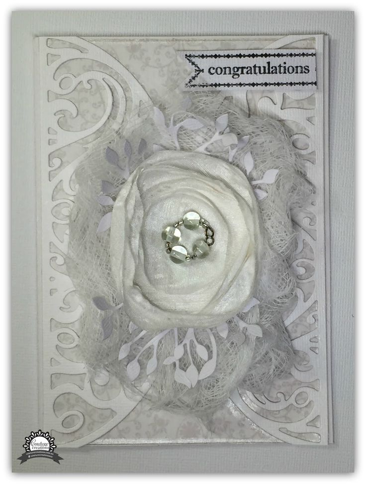 Couture Creations: Congratulations Card by Tracey Rohweder