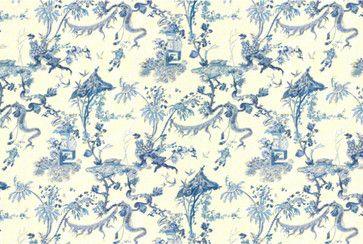 Yosca Fabric, Blue asian upholstery fabric